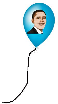white obama baloon