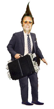 Tube briefcase of money