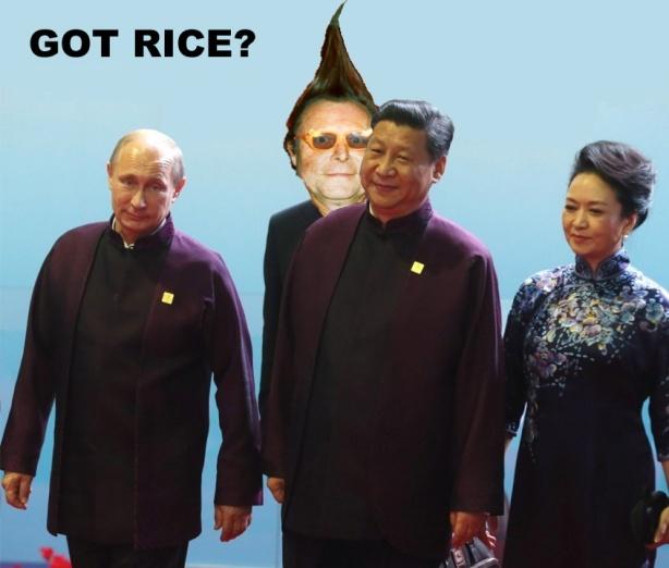 (L TO R) Putin, Tubularsock, Xi Jinping, Peng Liyuan.