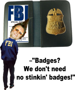 TUBE FBI Badge