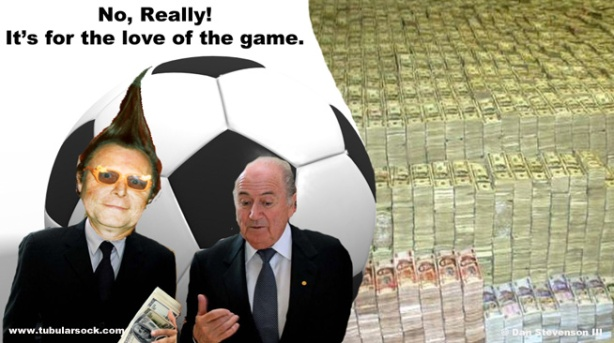 Tubularsock with Sepp Blatter, President of the FIFA.
