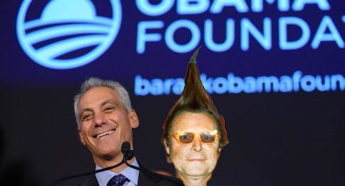 Sleazeball Mayor Rahm Emanuel and Tubularsock.