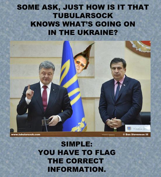 President Petro Poroshenko (L) and Mikhail Saakashvili