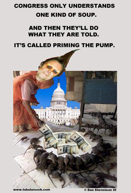 Tube priming the pump
